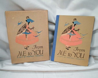 Vintage 1916 Book Orig Box From Me to You Friendly Thoughts Poems for Friends
