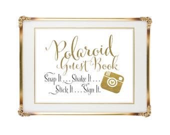 Polaroid Guest Book Sign | Polaroid Wedding Guest Book | 5x7 | Wedding Signs | DIY PRINTABLE | Instant Download