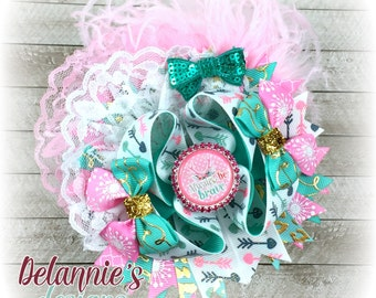 Always Be Brave Over The Top Hair Bow ~ Stacked Boutique Bow ~ OTT Hairbows