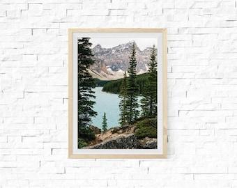 "Large Wall Art, Landscape Photography, Travel Decor, Blue Home Decor, Nature Print, Wall Art, Fine Art Print, ""Lake Daze"""