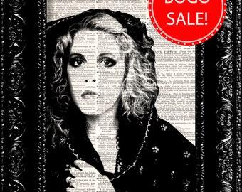 Fleetwood Mac Stevie Nicks Print, Dictionary Print, Vintage Book Print, Upcycled Art