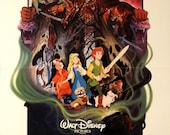 "BLACK CAULDRON. Original 1985 US 25""x 41"" Theater Movie Poster. Walt Disney Movie.Awesome Paul Wenzel Art. Animated Fantasy Cartoon"