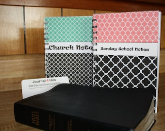 Personalized Journal Set: Church Notes and Sunday School Notes Journals