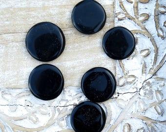 Black Obsidian Large  Worry Stone