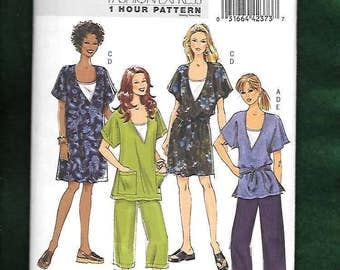 Butterick 5226 Misses' Tunic, Dress Belt, Camisole And Pants, Sizes Large, X-Large, XX-Large, (16-26), UNCUT