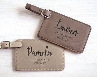 Personalized Bridal Party Luggage Tag: Wedding Party Luggage Tag, Custom Bridesmaid Luggage Tag, Groomsman Luggage Tag, Gifts, SHIPS FAST