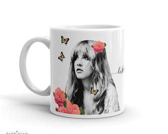 Stevie Nicks Rhiannon Art Mug, Coffee Mug, Ceramic Mug, Inspirational Quote Mug, Gifts for Women Wedding Mug, Gypsy Boho Decor Birthday Gift