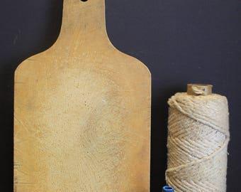 Vintage Primitive Wooden Cutting Board // Bread Board // Old Board