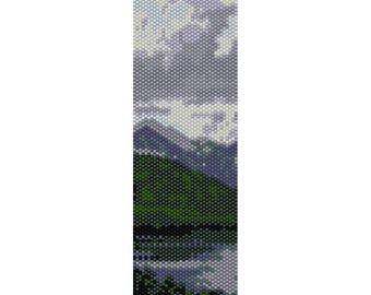 Landscape 1 Peyote Bead Pattern, Bracelet Pattern, Bookmark Pattern, Seed Beading Pattern Miyuki Delica Size 11 Beads - PDF Instant Download