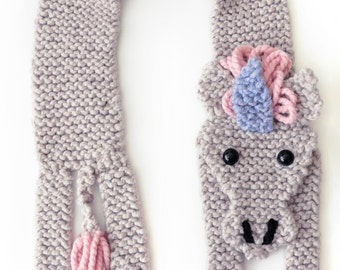 Make Your Own Unicorn Scarf - Beginners Easy Knitting Kit