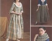 18th Century Historic Costume Pattern Simplicity 8161 Sizes 14 - 22 UNCUT