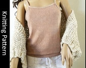 Slouchy Easy Weekend Shrug, beginner knitting pattern, instructions, casual, seed, moss, blanket shrug, bulky wrap, shawl, quick knit