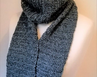 Crochet Textured Scarf - Made to Order - Choice of Colour