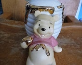 Adorable Disney's Winnie The Pooh Sugar Jar Honey Pot Lenox Fine Ivory China