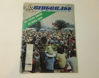 Bluegrass Unlimited Vol. 15, No. 10 (April 1981) - 17th Golden West Bluegrass Festival cover ~ vintage 80s Music Magazine back issue