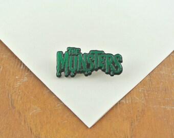 Vintage The Munsters Enamel Metal Pin / Badge / Brooch 1980's |  Pop Culture