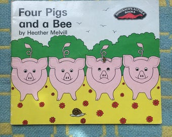Four Pigs and a Bee - Vintage children's counting book 1980s