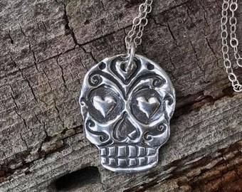 True Love Sugar Skull Necklace