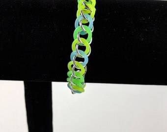 Stretchy Glow in the Dark Chainmail Bracelet