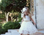 Flower Girl Dress, Rustic Lace Flower Girl Dress, White Lace Dress, baby lace dress, Flower Girl Dresses, Toddler Dresses, Country Dres