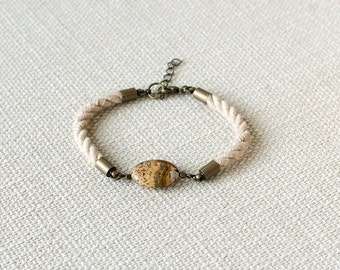 HELLAS Picture Jasper and Rope Bracelet