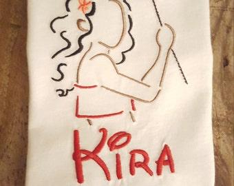 Personalized Moana machine embroidered shirt....Disney...Moana....Princess....Disney World