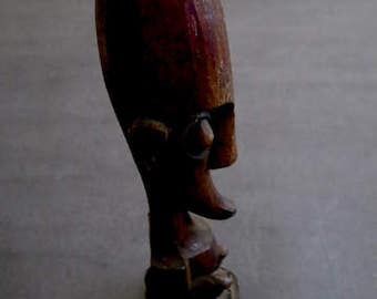 Vintage Wood Carving Possible Alien God