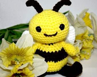 Honey the Bee  - Handmade Crochet Amigurumi Baby Toy