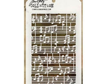 "Tim Holtz ""Concerto"" Stencil - STAMPERS ANONYMOUS"