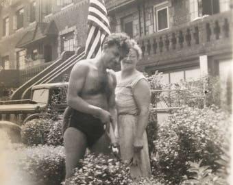 Funny How Grandma Took a Sudden Interest in Gardening Vintage Beefcake Photo
