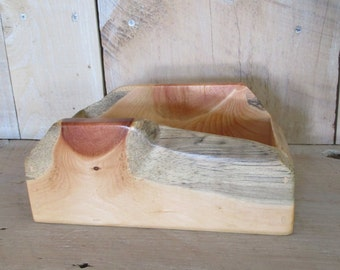 Rustic Live Edge Wood Tray - Small, Clear Poly, Key Tray, Jewelry Tray