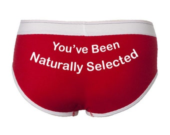 Nerdy Underwear, Funny Biology Gift for Her, Romantic Gift for Biologists, You've Been Naturally Selected