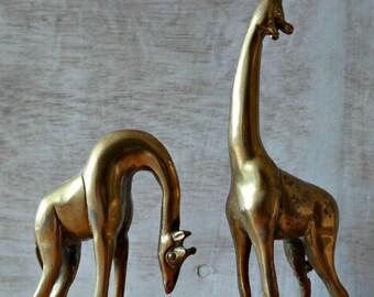 Brass Giraffe Couple