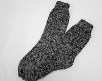 Hand Knitted Wool Socks For Men-Colorful Wool Socks-Size Large US 10-13/ EU 43-47
