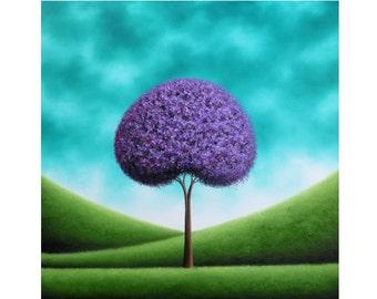 ORIGINAL Painting, Tree Oil Painting, Modern Abstract Art Tree Painting, Purple Tree Art, Large Impasto Painting, Textured Canvas Art, 24x24