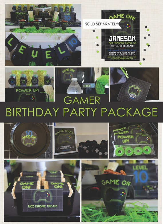 Classroom Decoration Ideas Xbox One : Gamer party package playstation xbox game truck