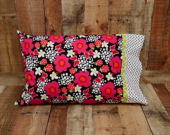 Standard Pillowcase - Floral Pillow Cover - Summer Pillowcase - Bright Pillowcase - Mother's Day Gift - Birthday Gift - Pillow Case
