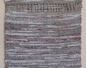 "Hand Woven Rag Rug - Grey Things Past Cotton 24"" x 42"""