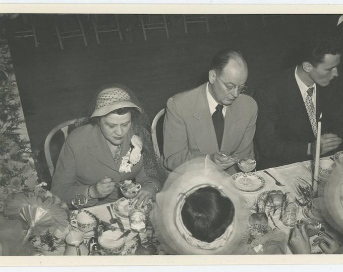 Vintage Snapshot Photo 5x7: Fruit Cocktail, c1940s-50s (73558)