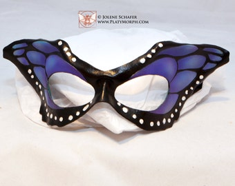 Blue Butterfly Wing Half Mask Masquerade Fancy Dress Original Cosplay Mardi Gras