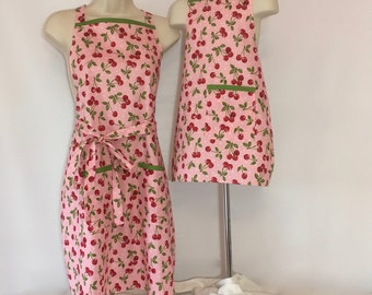 Mommy & Me Apron set - Cheerful Cherries