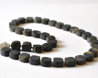 Baltic Amber Necklace, Amber Jewelry, Baltic Amber, Black Necklace, Modern Jewelry