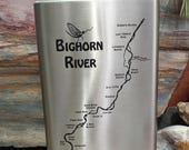 Big Horn River Map FLASK ...