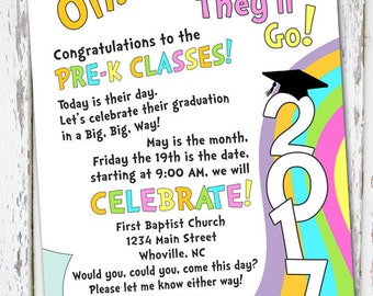 Oh The Places You Ll Go Graduation Invitation