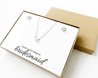 Thank You For Being My Bridesmaid Jewelry Boxes (Jewelry not included) | Jewelry Boxes | Bridesmaid Gifts | Bridesmaid Jewelry | LJBS1