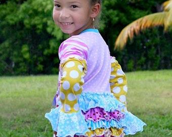 Ruffled Tunic PDF Sewing Pattern, Knit Top PDF Sewing Pattern,  Euro Girls Pattern, Sewing pattern, Kids Sewing, Girls sewing, Girls Tunic