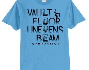 Love Gymnastics Shirt Vault Floor Unevens Beam Gymnast T Shirt