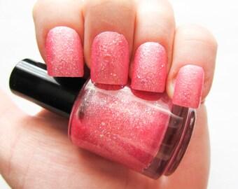 Kawaii Pink Nail Polish // Glitter Nail Polish // Glitter // Pink // Kawaii // Iridescent // Indie Polish // Vegan Friendly // Nail Polish