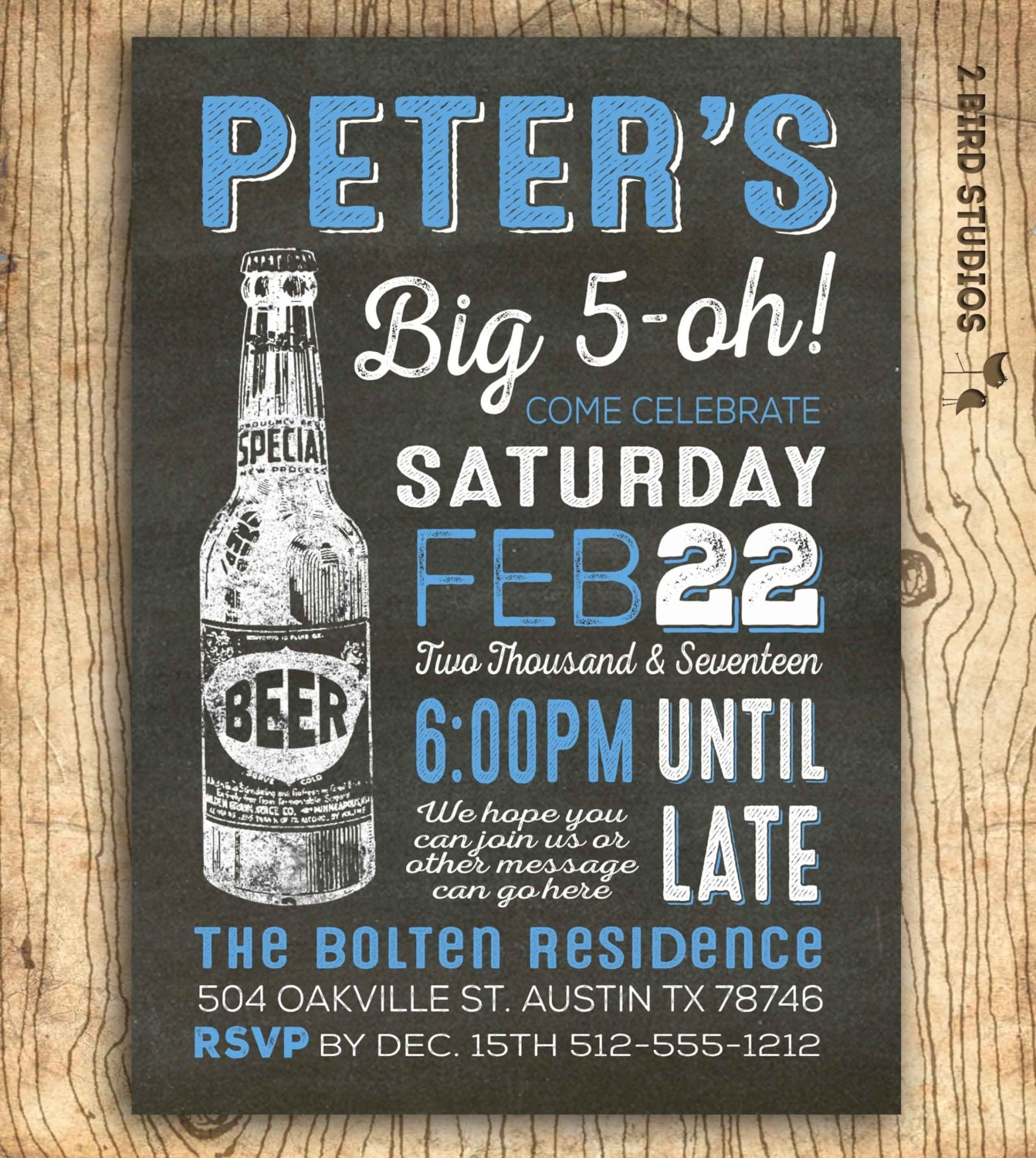 50th Birthday Invitation For Men Cheers & Beers 50th