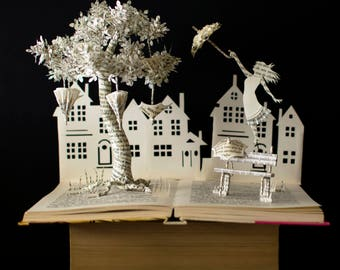 Listen To The Wind Blow - Book Arts - Book Sculpture - Altered Book